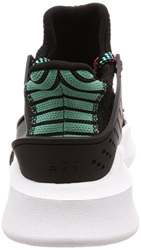 adidas Originals EQT Equipment Bask ADV, Core Black-Core Black-Sub Green, 10