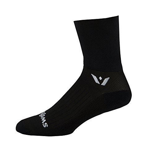 Swiftwick Performance Seven inch Cuff Socks, Black, Large