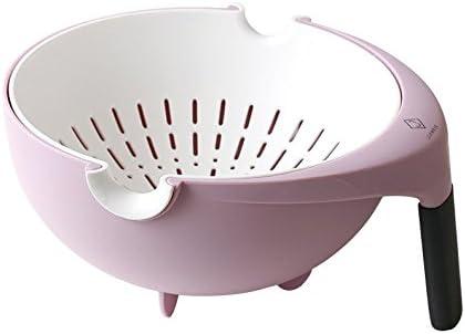 ZZSIccc Lavabo Giratorio Doble Cesta de Drenaje Cocina Cocina Cesta de plástico Sala de Estar Instalación de la Campana extractora, C: Amazon.es: Hogar