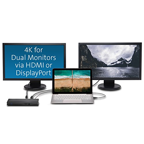 """Kensington SD4600P USB-C Docking Station with Power Delivery Charging for 2015/2016 MacBook Retina 12"""", Chromebook Pixel, Dell XPS 13"""" 9350/XPS 15"""" 9550, Dell Precision 5510 (K38231WW) by Kensington (Image #2)"""