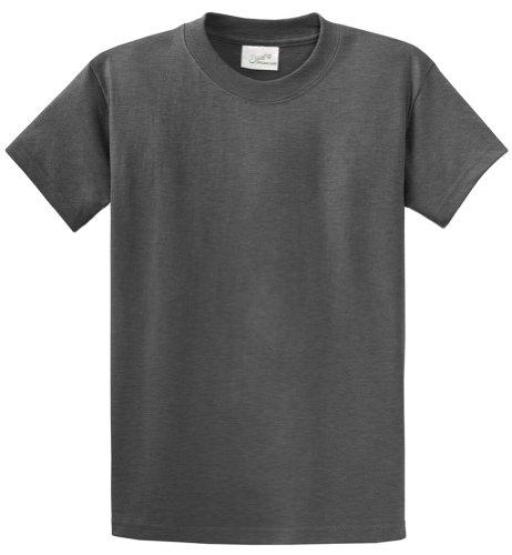 Joe's USA(tm - Heavyweight 6.1-Ounce, 100% Cotton T-Shirts in Size L Dark Heather Grey