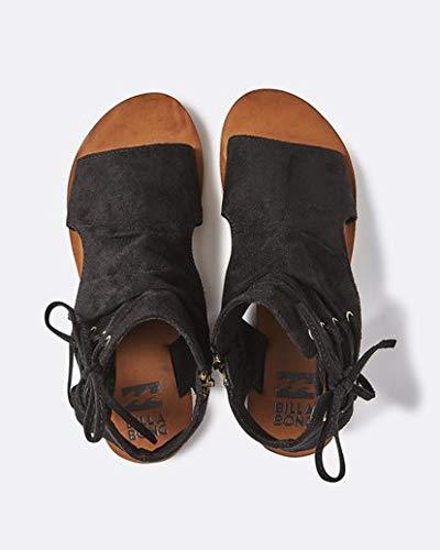 (Billabong Women's East of Eden 2 Flat Sandal, Black, 7 M)