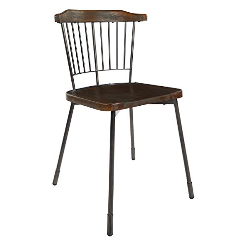 (OSP Designs ABY4568-C209-1 Ashby Dining Chair, Industrial Steel)