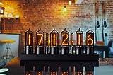 ZIN18 New Nixie Tube Clock Black Aluminium Case