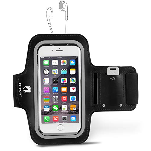 FITFORT Sport Armband,Water Resistant Sport Gym Running Armband with Built-in Screen Protector +Key Holder Compatible Phone X/8/7/6S/6 Plus, Galaxy S8/S7/S6 Edge,Note LG HTC (5.5