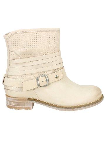 Shoot Stiefelette Latte Macchiato - Biker Boots de cuero mujer beige - Latte Macchiato