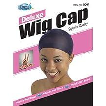 DREAM Deluxe Wig Cap Black 2 pc (Model: 097 BLACK), Spandex cap, Wig cap, Mesh cap, Snood, Hair net, Fish net