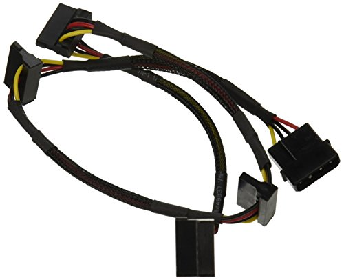 Price comparison product image Monoprice 108794 24-Inch 4-Pin Molex Male to 4 15-Pin SATA II Female Power Cable Net Jacket