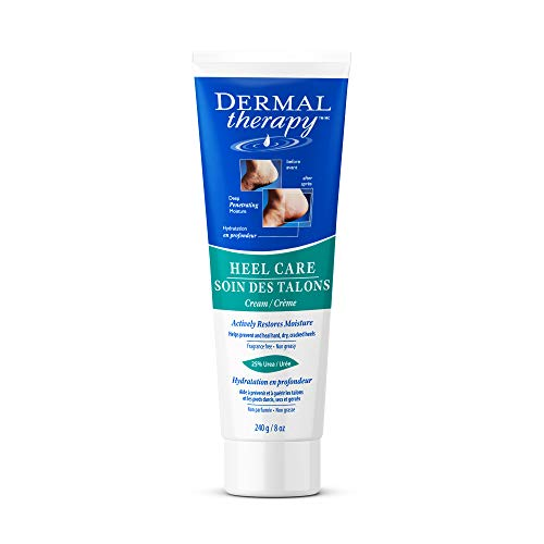 - Dermal Therapy 8 oz Foot Cream for Dry Cracked Feet - Urea Cream, Foot Lotion, Heel Cream, and Humectant Moisturizer with Alpha Hydroxy Acids