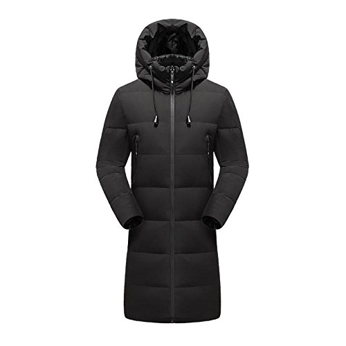 Padded Fur Hood With Quilted Jacket QIN Windproof Mens Black Warm Winter Thick amp;X Coat fSgfXna4