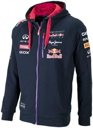 Infiniti Red Bull Racing Official Teamline Hoodie Sweat Jacke Formel 1 F1 Navy Sport Freizeit