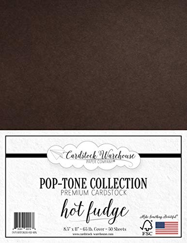 HOT Fudge Dark Brown Cardstock Paper - 8.5 x 11 inch 65 lb. Cover -50 Sheets from Cardstock Warehouse