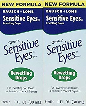 Bausch & Lomb Sensitive Eyes Rewetting Drops for Soft Contact Lenses-1 oz, 2 pack Bausch & Lomb Contact Lenses