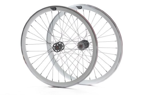 Pure Fix 700C 30mm Machined Pro Wheelset, White (700c Fixed Gear)