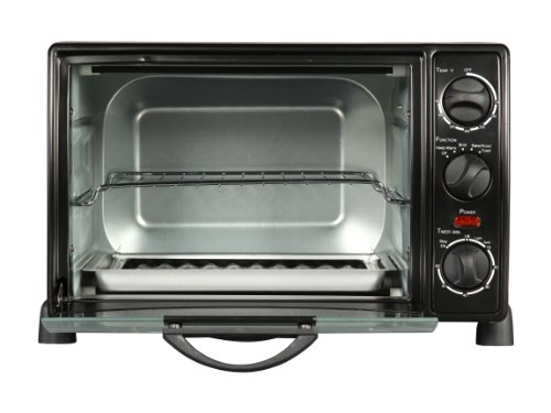 Rosewill RHTO-13001 6 Slice Toaster Oven Broiler with Drip Pan, 0.8 cu ft ,  Black (Toaster Oven With Broiler compare prices)