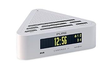 pure chronos ii stylish dabfm clock radio white