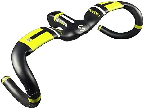 Ultralight Color : Yellow Grey Size: 420x80mm UD Carbon Fiber Ultralight Road Bike Handlebar Mawenfeili