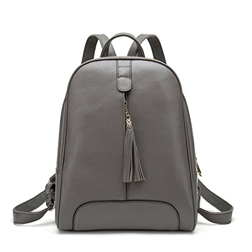 Couleur en à 4 3 Bag Véritable Leisure Tassel Dos Femmes Sac Zipper CRR School Cuir qf7HFW