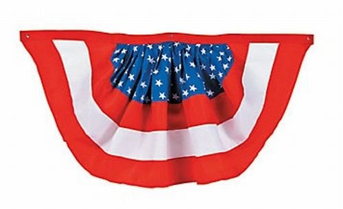 Cheap 4th of July Woven Patriotic Bunting