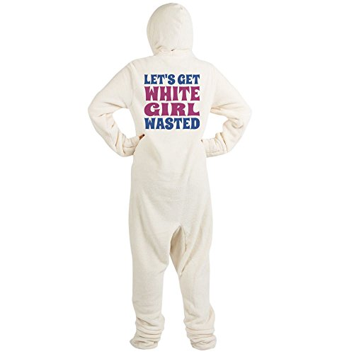 CafePress - Let's Get White Girl Wasted - Novelty Footed Pajamas, Funny Adult One-Piece PJ (Funny Onesie Adults)