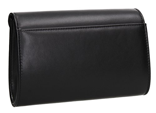 SWANKYSWANS Bag Party Butterfly Nylah Stud Celebrity Black Clutch Ladies Prom Purse Night Wedding Out Evening rqar1Ow