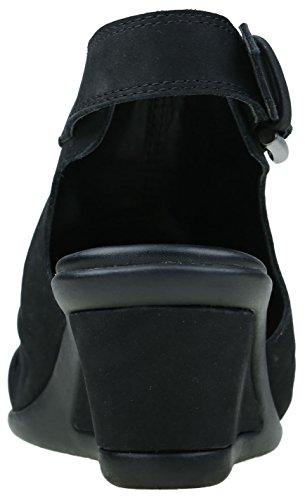 Origines De La Terre Womens Adina Wedge Sandale Noir