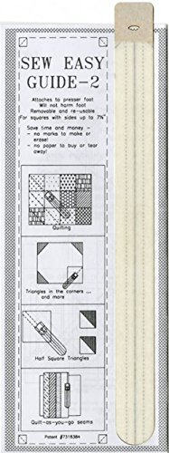 Sew Easy Guide 2 (11 1/4'') for Sewing Diagonally Across Squares (Up to 7 1/2''), Half Square Triangles, Quilt As You Go Seams by Sew Easy