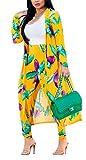 Women's Geometric Patterns Modest Muslim Islamic Open Front Abaya Jilbab Coat