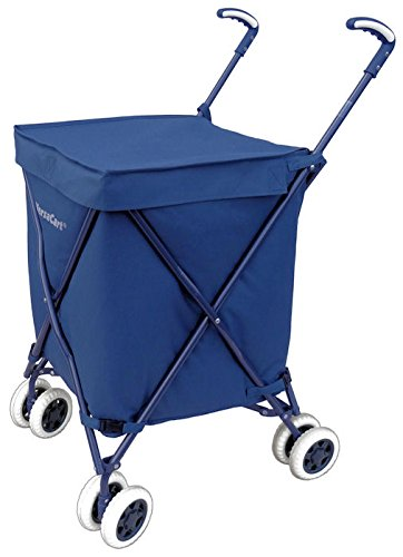 Folding Shopping Cart - VersaCart Transit Utility Cart - Transport Up to 120 Pounds (Water-Resistant Heavy Duty Canvas)