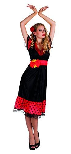 Boland BV Spanish Flamenco Ladies Fancy Dress Senorita Rumba Dancer Womens Costume Outfit (Women: 12-14) by