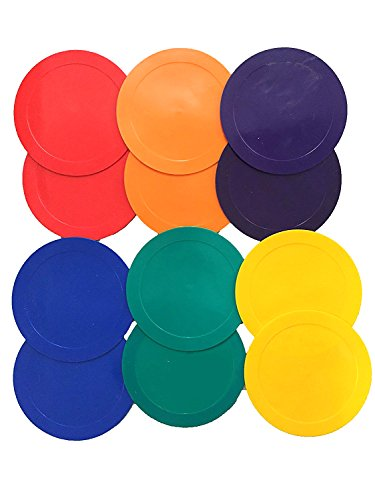 U.S. Coach Supply Rainbow Poly Spot Markers | Sit Poly Spots - 12 Pack -