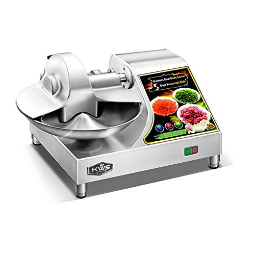 - KWS BC-400 Commercial 1350W 1.5HP Stainless Steel Buffalo Chopper Bowl Cutter Food Processor