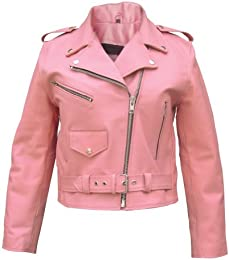 Amazon.com: Pink - Leather &amp Faux Leather / Coats Jackets &amp Vests