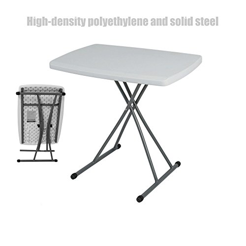 Portable Personal Folding High-Density Polyethylene Lightweight Adjustable Height Computer Laptop Desk Indoor/Outdoor Solid Steel Frame UV protected Stain-Resistant Foldable Table - Fl Jacksonville Shopping Center