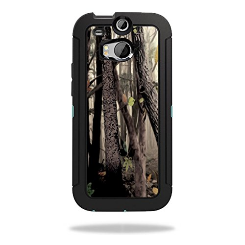 Mightyskins Protective Skin Decal Cover for OtterBox Defender HTC One M8 Case wrap sticker skins Tree Camo