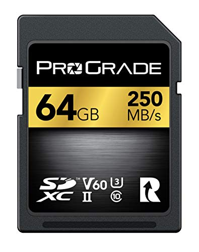 SD Card V60 (64GB) -Up to 130MB/s Write Speed and 250MB/s Read Speed | for Professional Vloggers, Filmmakers, Photographers & Content Curators – Update Firmware Included – by ProGrade Digital
