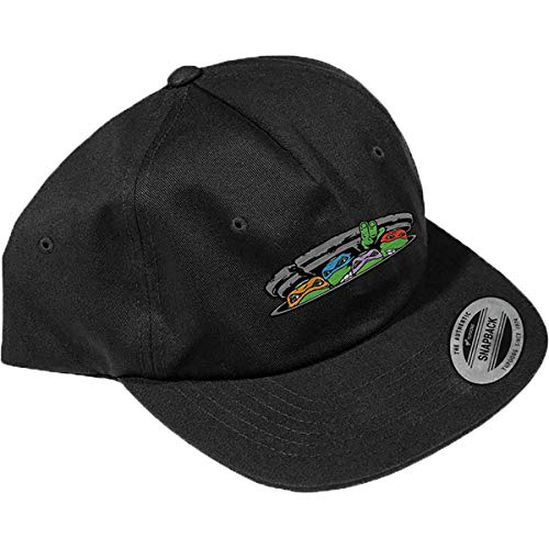 Santa Cruz Men's TMNT Ninja Turtles Snapback Adjustable Hats,One Size,Black