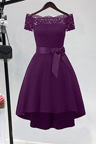 de largo gasa con hermoso vestido noche fiesta vestido de corazón Traube de para TOSKANA honor damas de BRAUT escote ZXOqgwxwnS