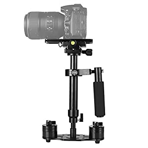 "15.7""/40CM Handheld Stabilizer, pangshi S40 Video Steadycam Stabilizer with Quick Release Plate 1/4"" Screw for Canon Nikon Sony DSLR Camera GoPro"