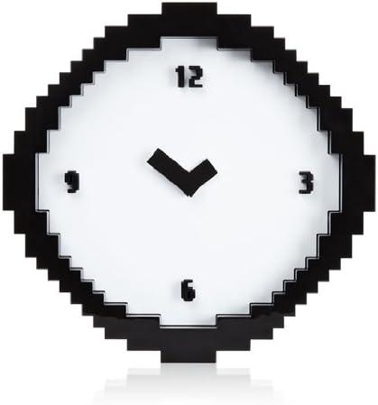 Wall Clock – Black White Pixel Time