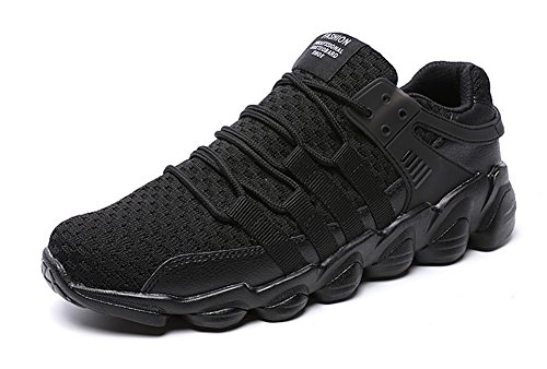 No.66 Town Men Flyknit Sneakers Walking Running Shoes #2 Black