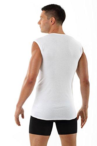 ALBERT KREUZ V-Unterhemd Business Herrenunterhemd aus 100% Bio-Baumwolle ohne Arm weiß
