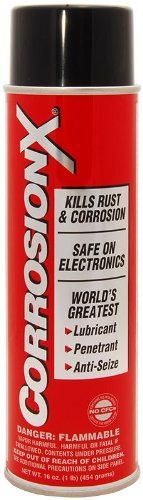 Corrosion-X 90102 Anti-Corrosion and Lubricant, 16-Ounce, Aerosol Rust Prevention