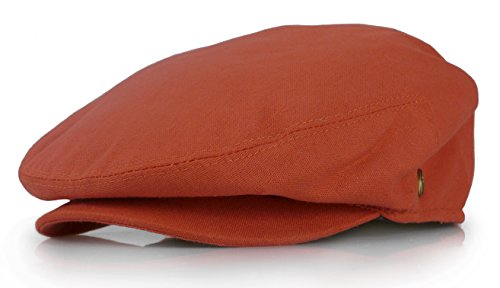 New Collection Men's Colorful Newsboy Ivy Gatsby Cap (Medium, Rust)