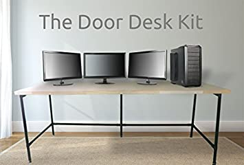Beau Amazon.com : The Door Desk, DIY Pipe Desk Kit   Black Pipes, Black Joints :  Office Products