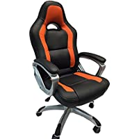 Viscologic Series Ys8702 Gaming Racing Style Swivel Office Chair, (BLACK & ORANGE)