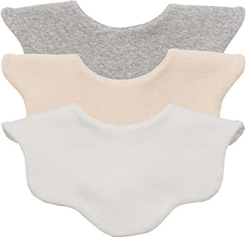 AVAUMA Baby Girl Boy Unisex Fabric Drooling Feeding Bibs Spring Summer Solid Color Set(3-Pack, WH/BG/GR)