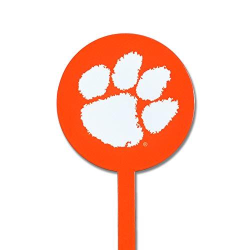 (Authentic Street Signs NCAA Clemson Tigers Garden Decor - Decorative Metal Yard Stake, Indoor/Outdoor, Orange)