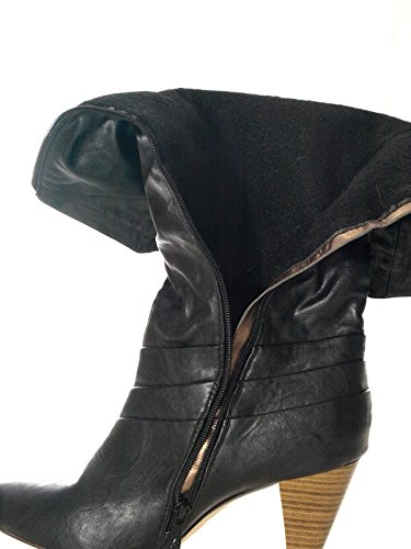 Damen Winter Stiefel innen warm gefüttert Schwarz # 9059