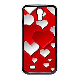 Jumphigh Heart Samsung Galaxy S4 Cases Valentine's Day Red Heart, Heart [Black]